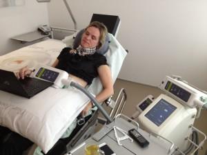 tijdens de behandeling